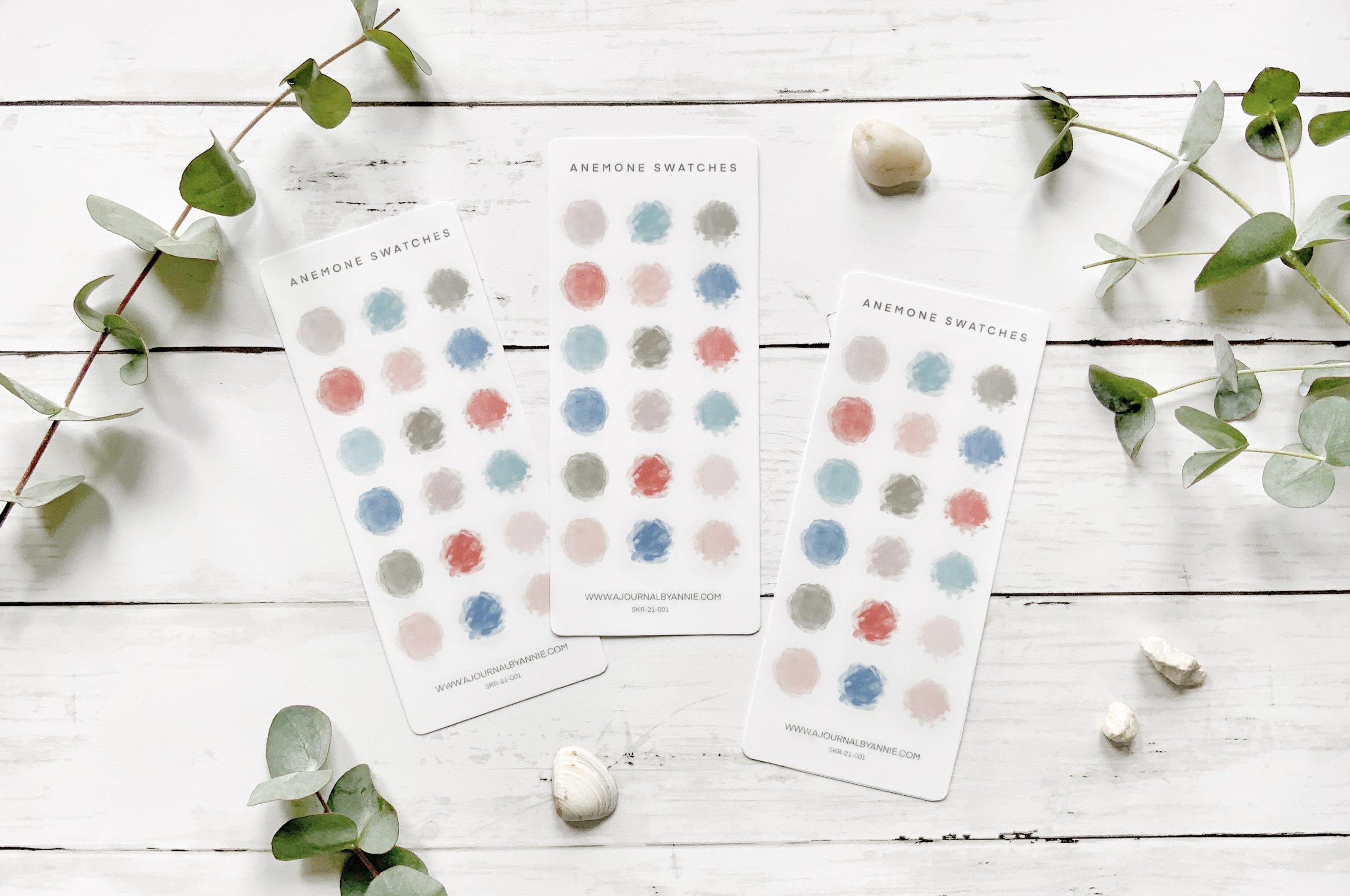 Anemone Swatches Sticker Sheet
