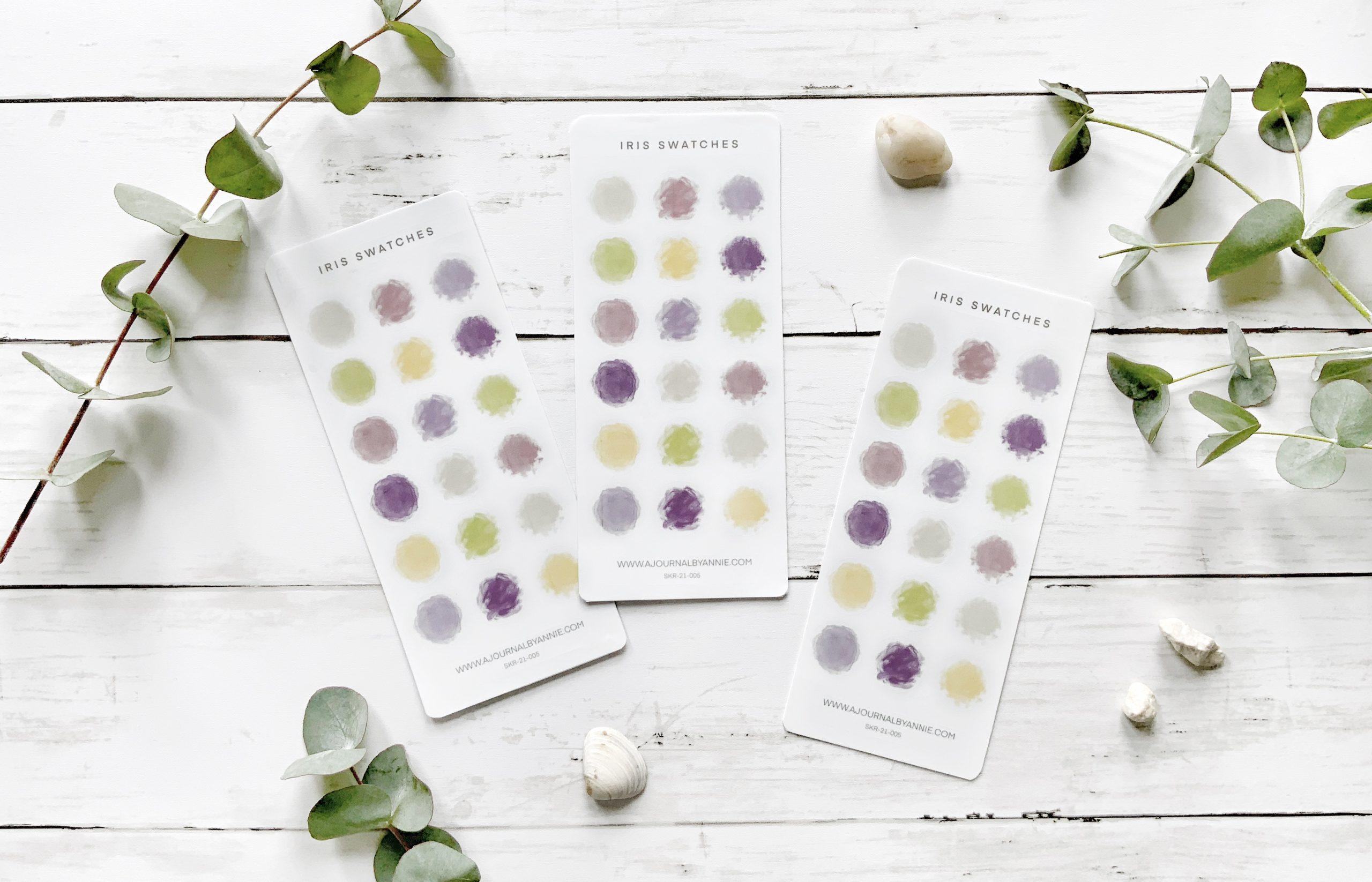 Iris Swatches Sticker Sheet