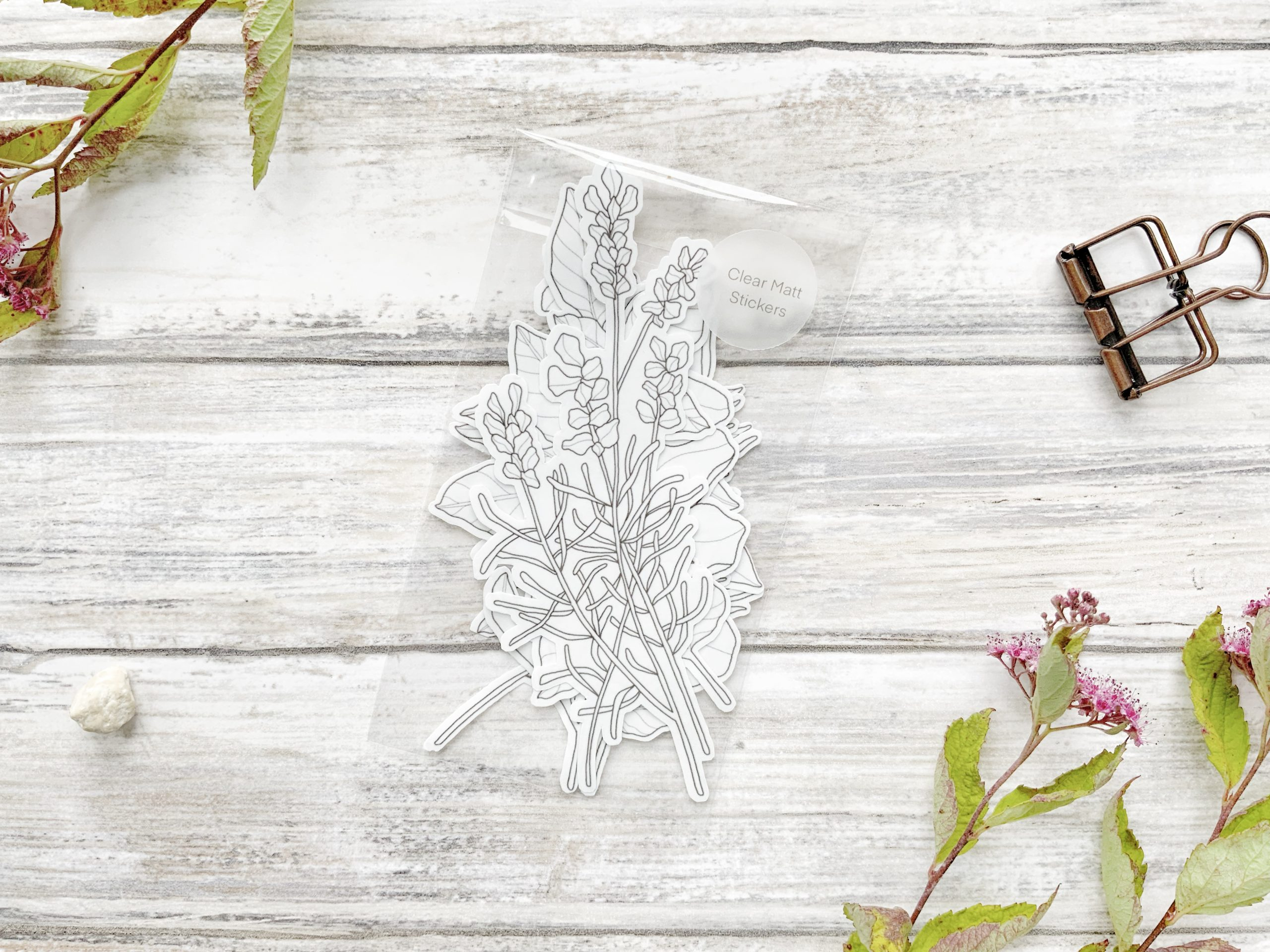 Garden Herbs and Plants – Set of 7 Die Cut Stickers